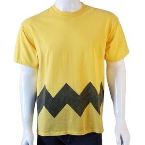 Vintage Charlie Brown Peanuts T-Shirt Yellow Large